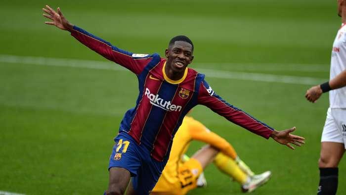 Ousmane Dembele Sevilla vs Barcelona La Liga 2020-21