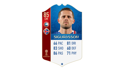 FIFA 18 UEFA World Cup Ratings Sigurdsson