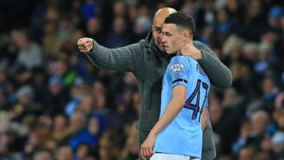 Pep Guardiola Phil Foden Manchester City