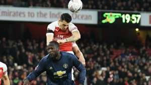 Romelu Lukaku Manchester United Granit Xhaka Arsenal FA Cup