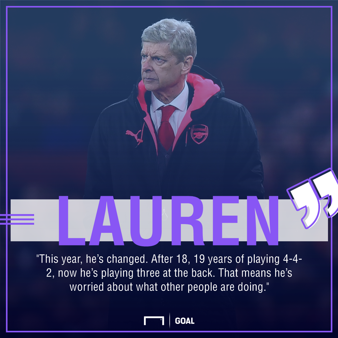 Arsene Wenger Lauren Arsenal fear