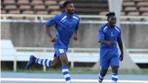 New Star of Cameroon celebrate v Gor Mahia.