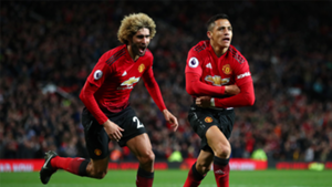 Alexis Sanchez Marouane Fellaini Manchester United Newcastle Premier League 2018-19