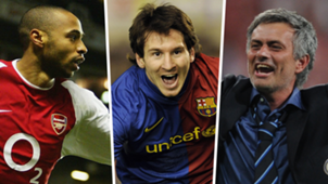 Top teams composite Thierry Henry Lionel Messi Jose Mourinho