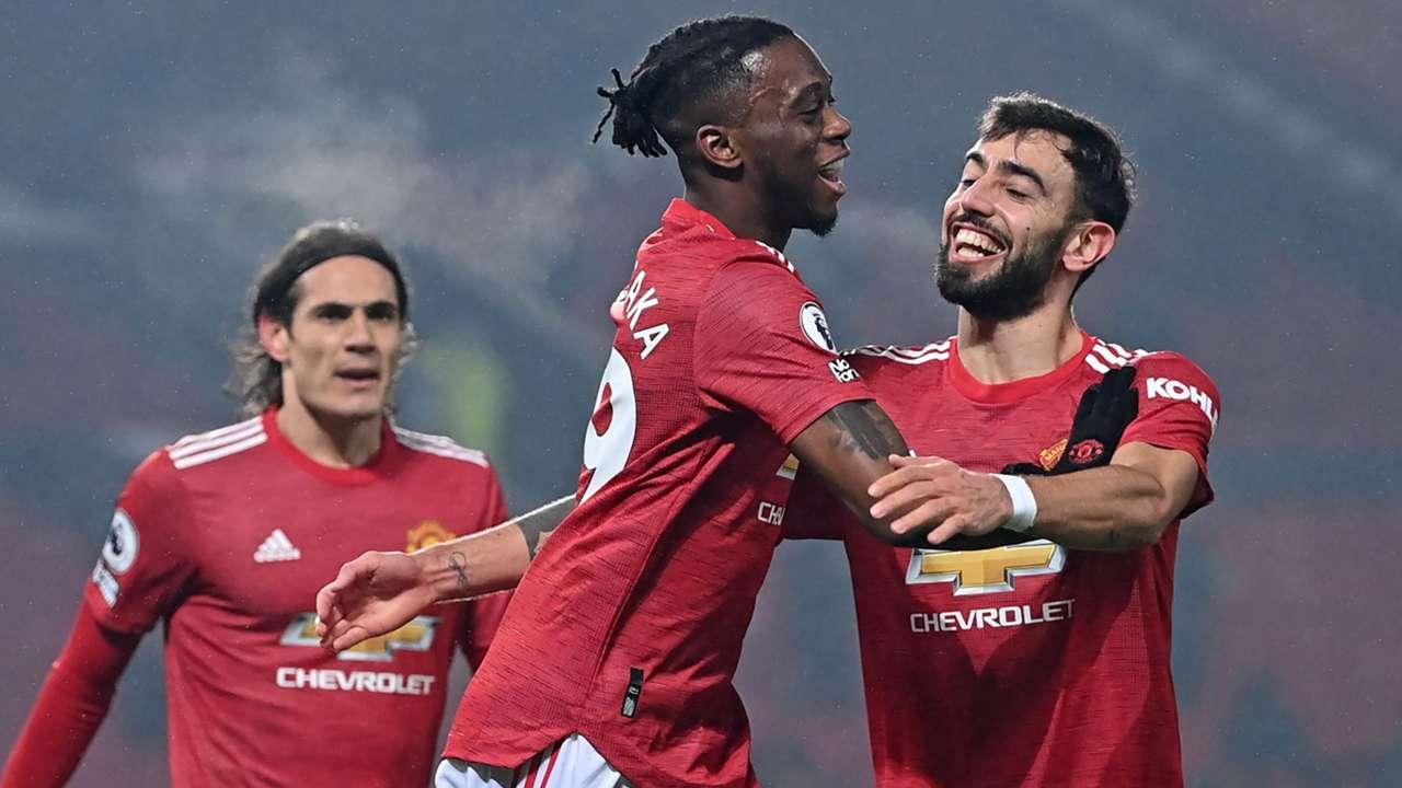 Aaron Wan-Bissaka, Bruno Fernandes, Edinson Cavani, Man Utd 2020-21