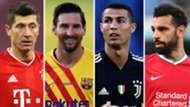 Robert Lewandowski Lionel Messi Cristiano Ronaldo Mohamed Salah