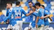 Napoli celebrating Perugia Insigne Coppa Italia