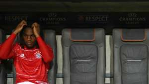 Renato Sanches Bayern Munich bench 13092016