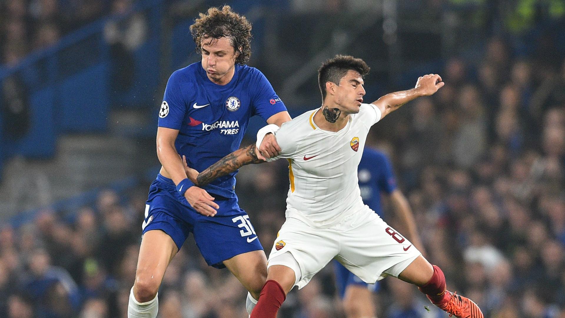 David Luiz Perotti Chelsea Roma Champions League