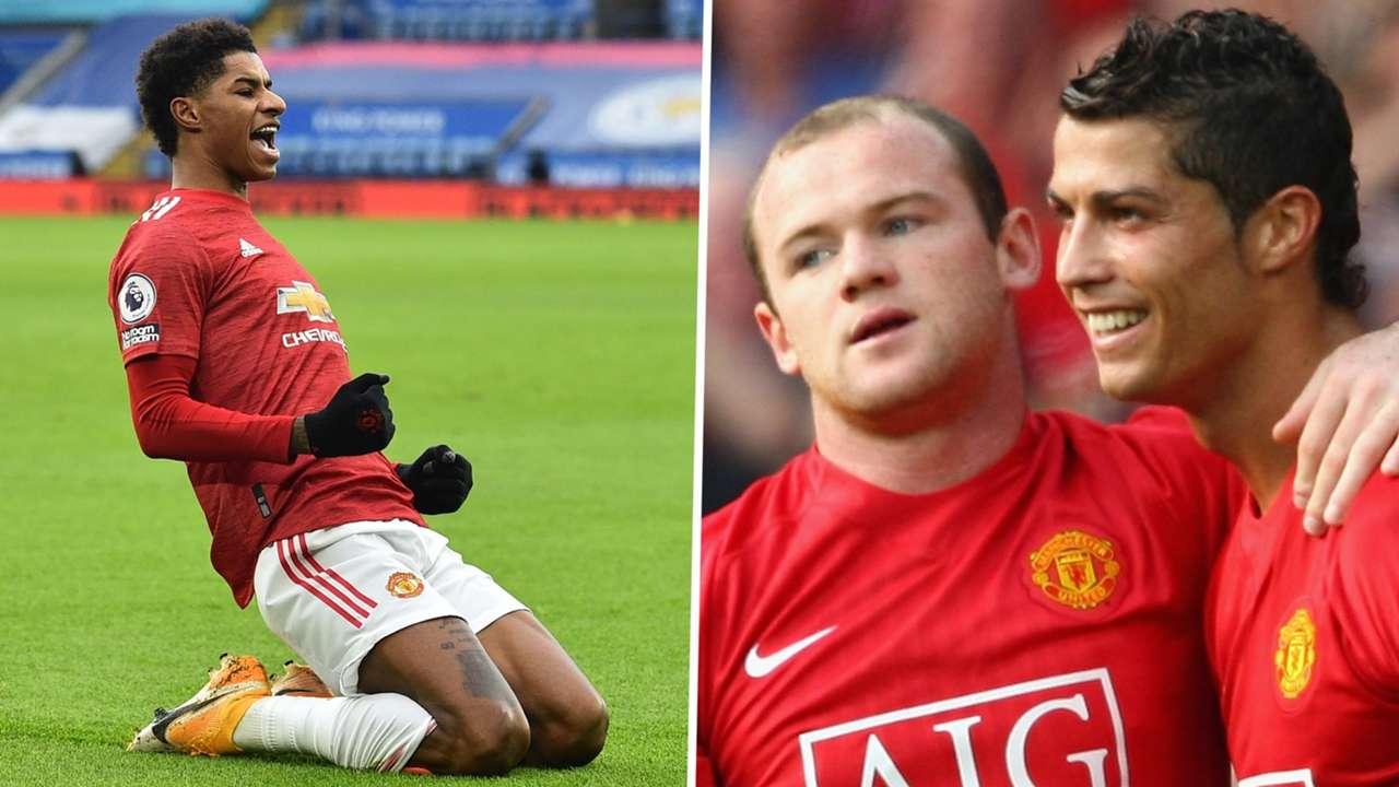 Marcus Rashford Wayne Rooney Cristiano Ronaldo Manchester United
