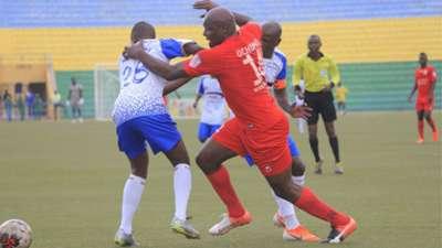 Wycillife Ochomo of Bandari v Azam FC of Tanzania.