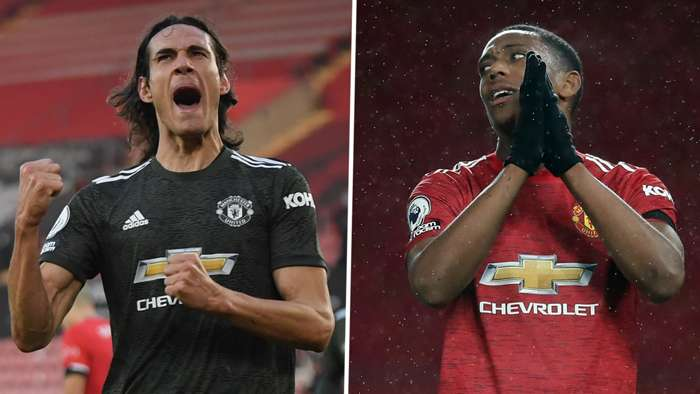 Edinson Cavani Anthony Martial