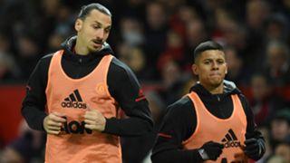 Zlatan Ibrahimovic, Marcos Rojo, Man Utd