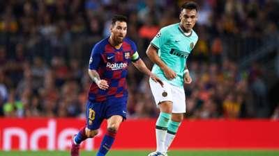Lautaro Martinez Lionel Messi Barcelona Inter Champions League