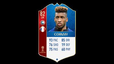 FIFA 18 World Cup France Coman