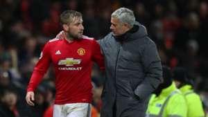 Luke Shaw Jose Mourinho Manchester United 13122017