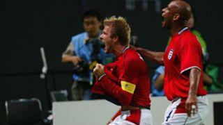 David Beckham England Argentina 2002 World Cup