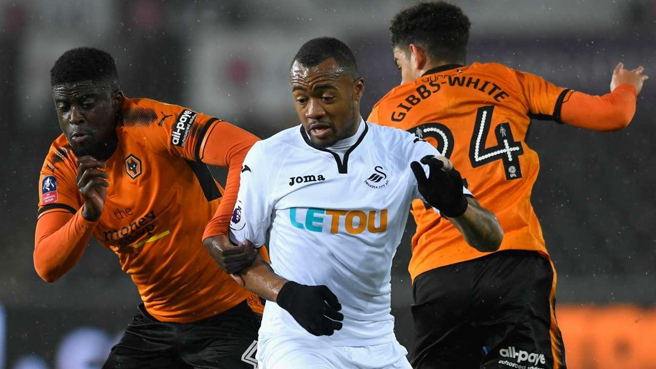 Jordan Ayew Swansea City Wolves