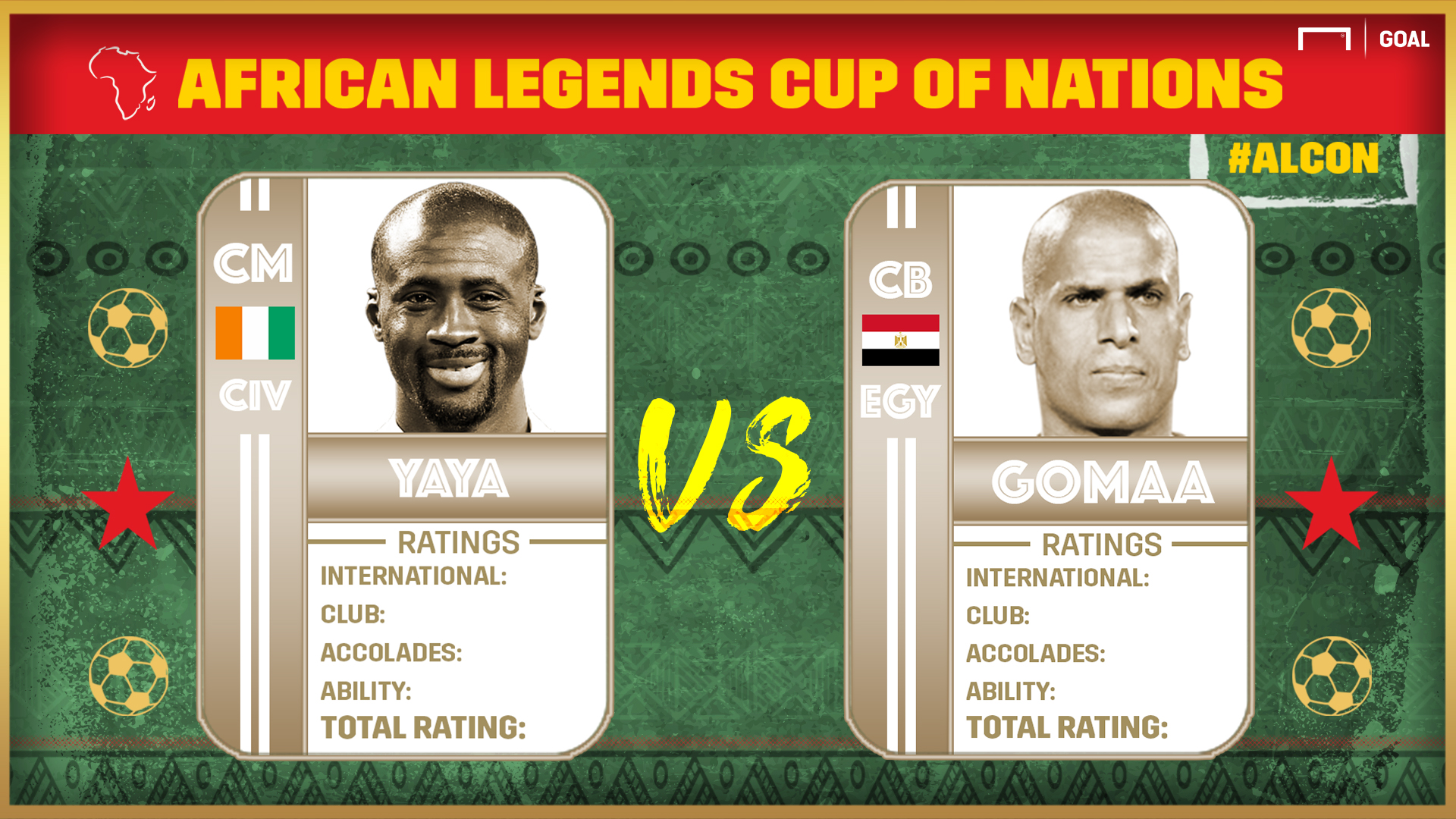 African Legends Cup of Nations: Yaya vs Gomaa