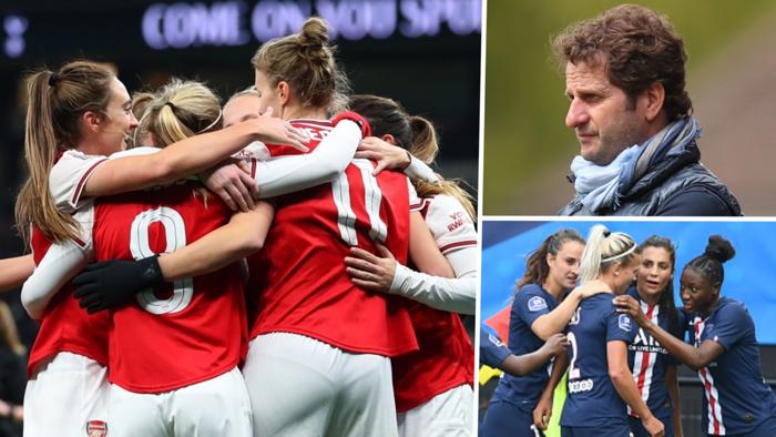Arsenal PSG Women's Champions League split