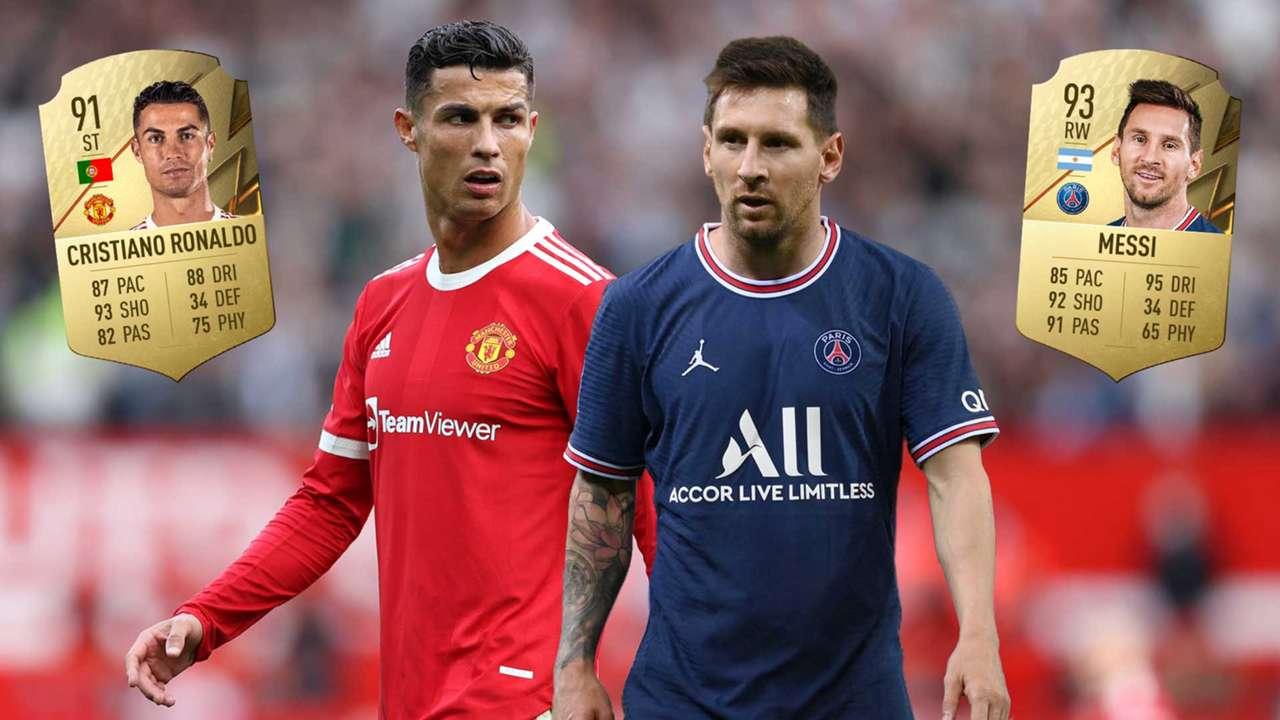 FIFA 22 ratings Cristiano Ronaldo Lionel Messi