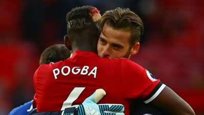 Paul Pogba David de Gea Manchester United