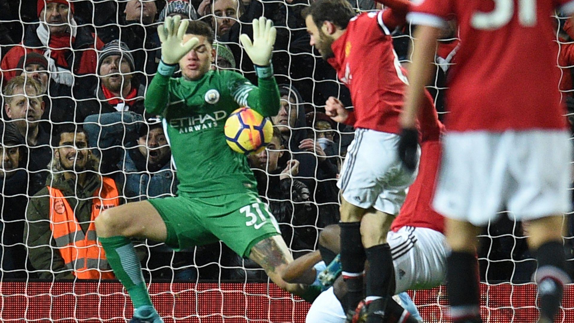 Ederson save Manchester United Manchester City Premier League 10122017
