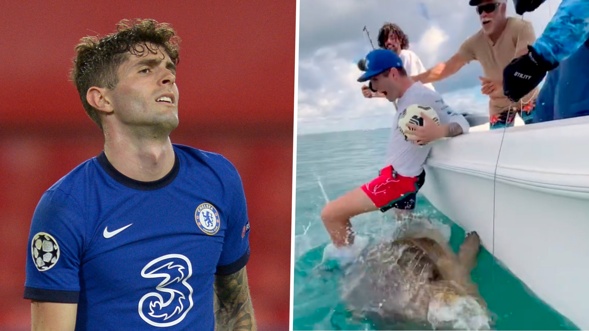 USMNT star Pulisic criticised after falling off boat on to endangered goliath grouper fish following ball juggling stunt