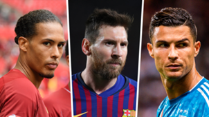 Van Dijk Messi Ronaldo split