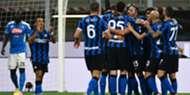 Inter Napoli D'Ambrosio celebrating