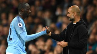 Yaya Toure Pep Guardiola Manchester City 2017-18