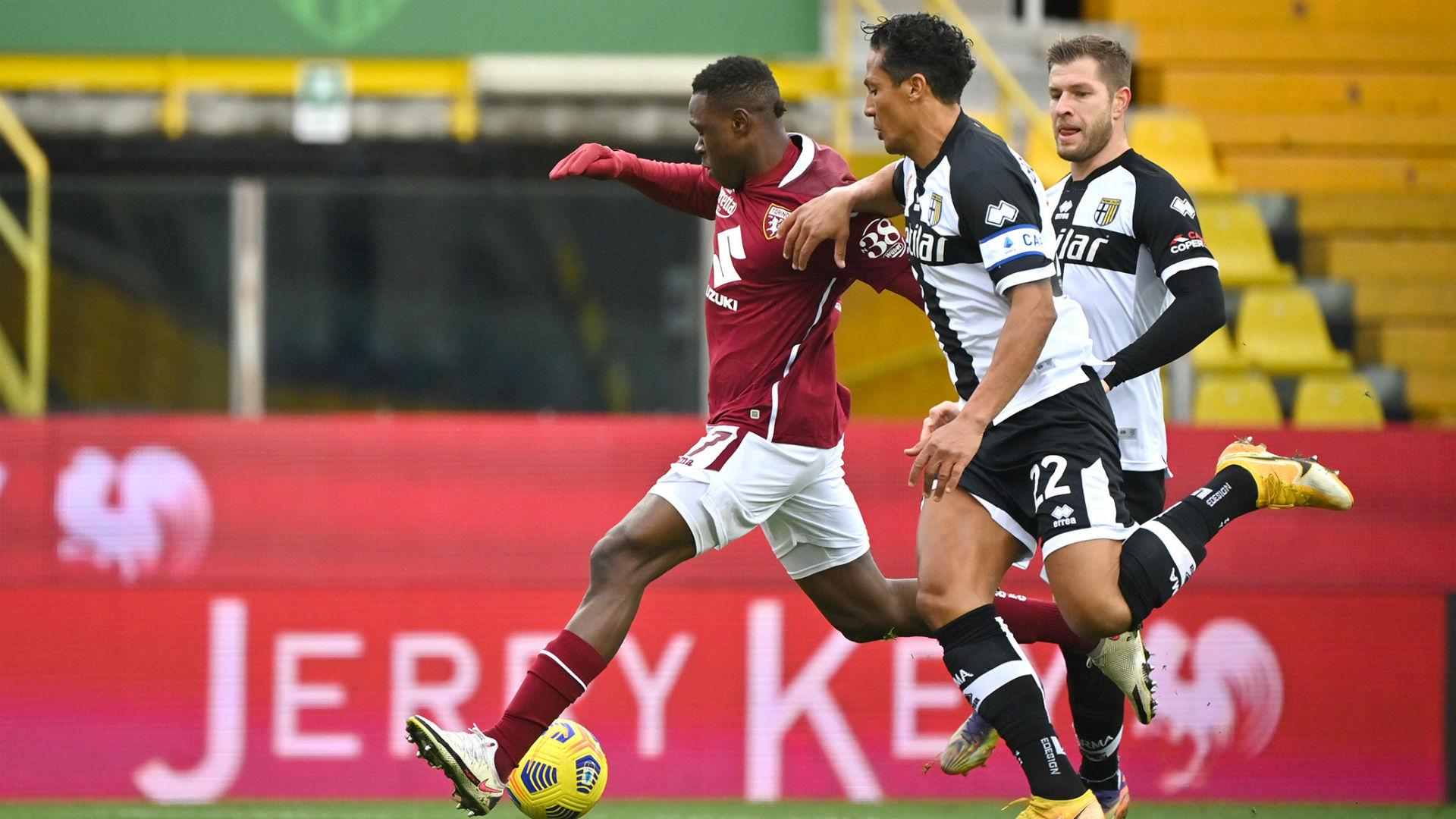 Wilfried Singo scores as Torino silence Parma
