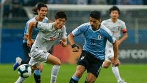 Luis Suarez Naomichi Ueda Uruguay Japan Copa America 2019