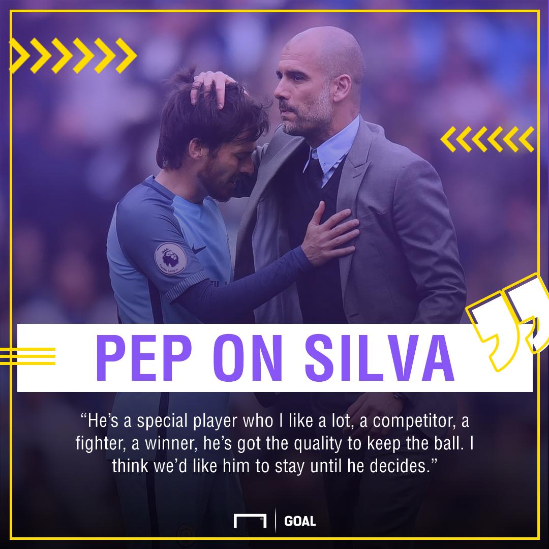 Pep Guardiola David Silva Manchester City special stay