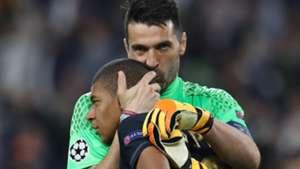 Mbappe Buffon Juventus Monaco Champions League