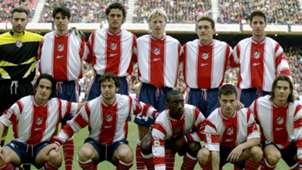 Once tipo del Atlético de Madrid en el año del descenso a Segunda (temporada 1999-2000)