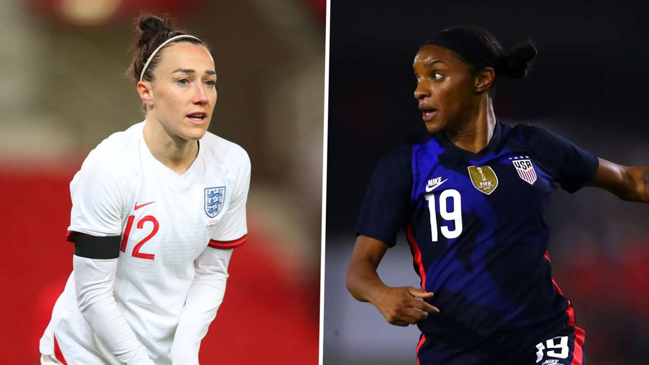 Lucy Bronze Crystal Dunn England Women USWNT split