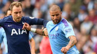 Kyle Walker Christian Eriksen Manchester City Tottenham