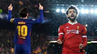 Lionel Messi, Mohamed Salah