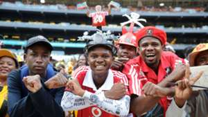 Orlando Pirates fans at the Soweto Derby