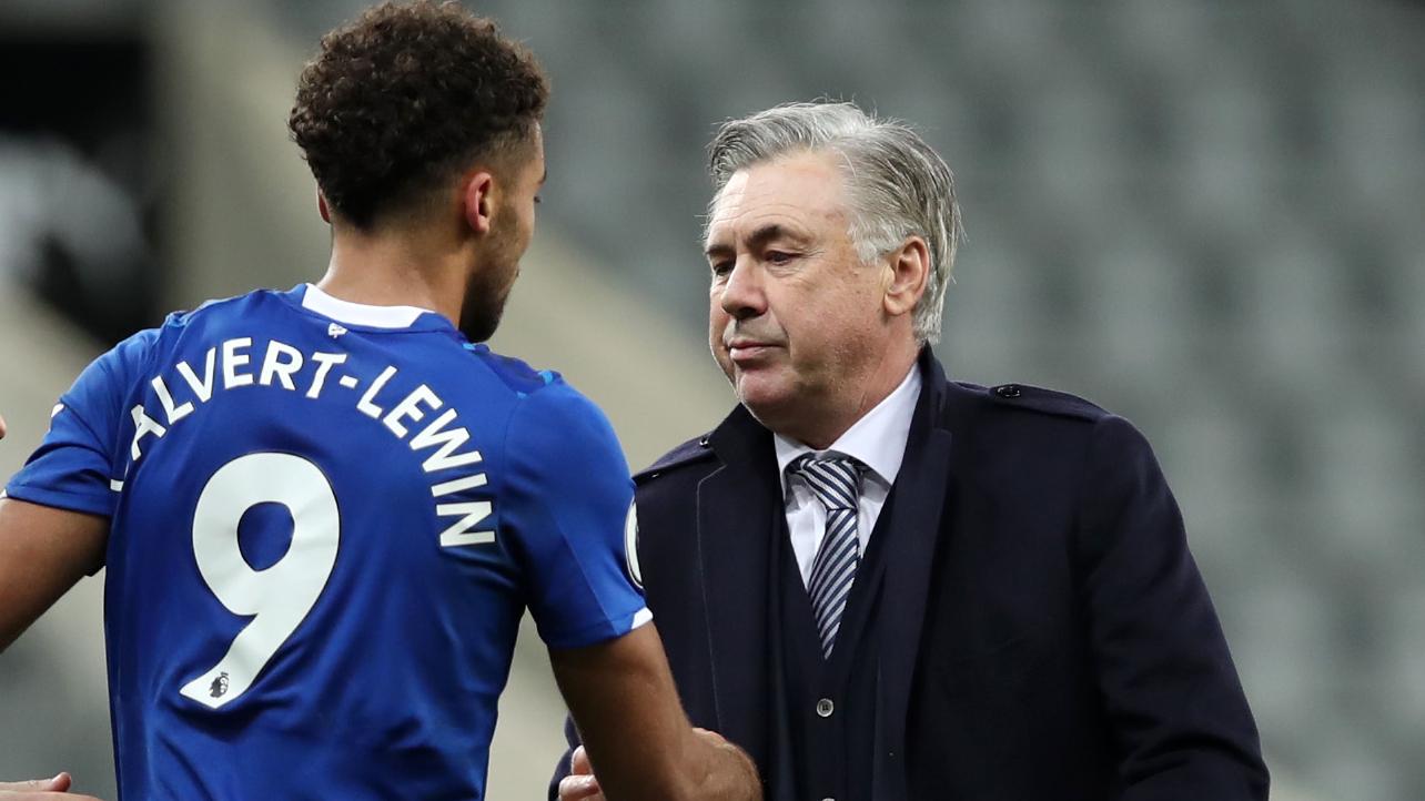 Everton - Dominic Calvert-Lewin totalement fan de Carlo Ancelotti