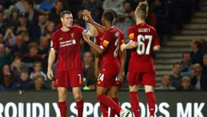 MK Dons v Liverpool Goal Celebration 09252019