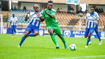 Ephraim Guikan of Gor Mahia v AFC Leopards.
