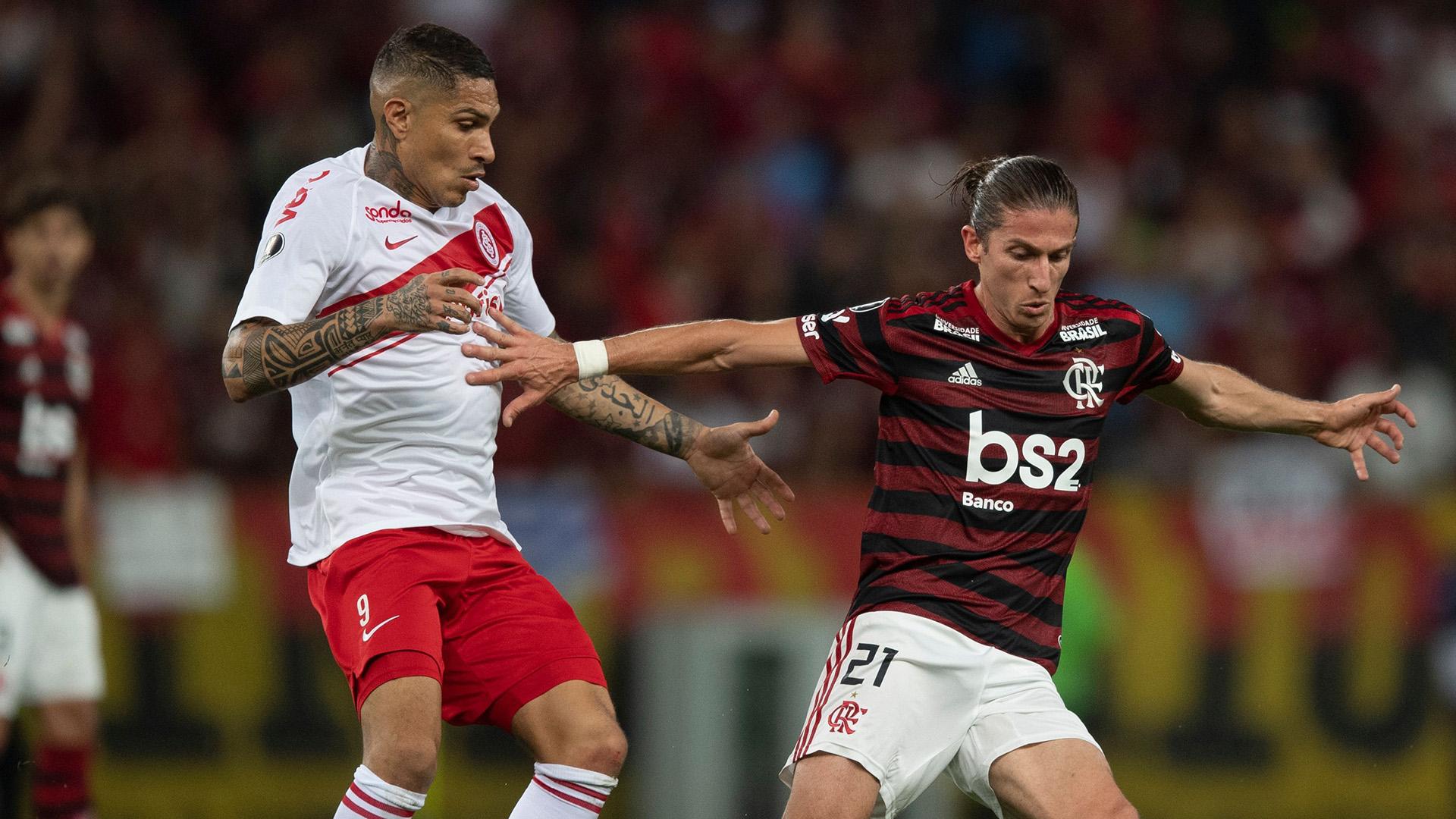 Paolo Guerrero Filipe Luis Flamengo Internacional Libertadores 21082019