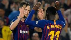 Ivan Rakitic Ousmane Dembele Barcelona 2018