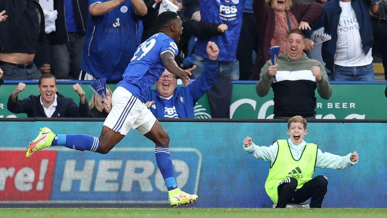 Patson Daka Leicester City Manchester United 2021-22