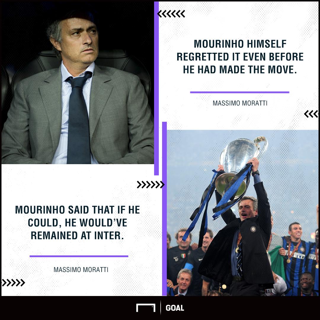 Jose Mourinho Inter regret Massimo Moratti