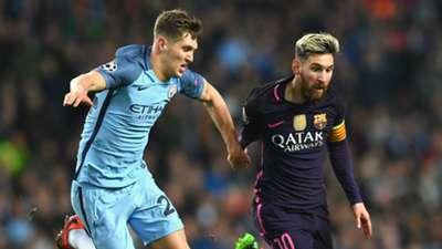John Stones Lionel Messi Manchester City Barcelona 2016-17