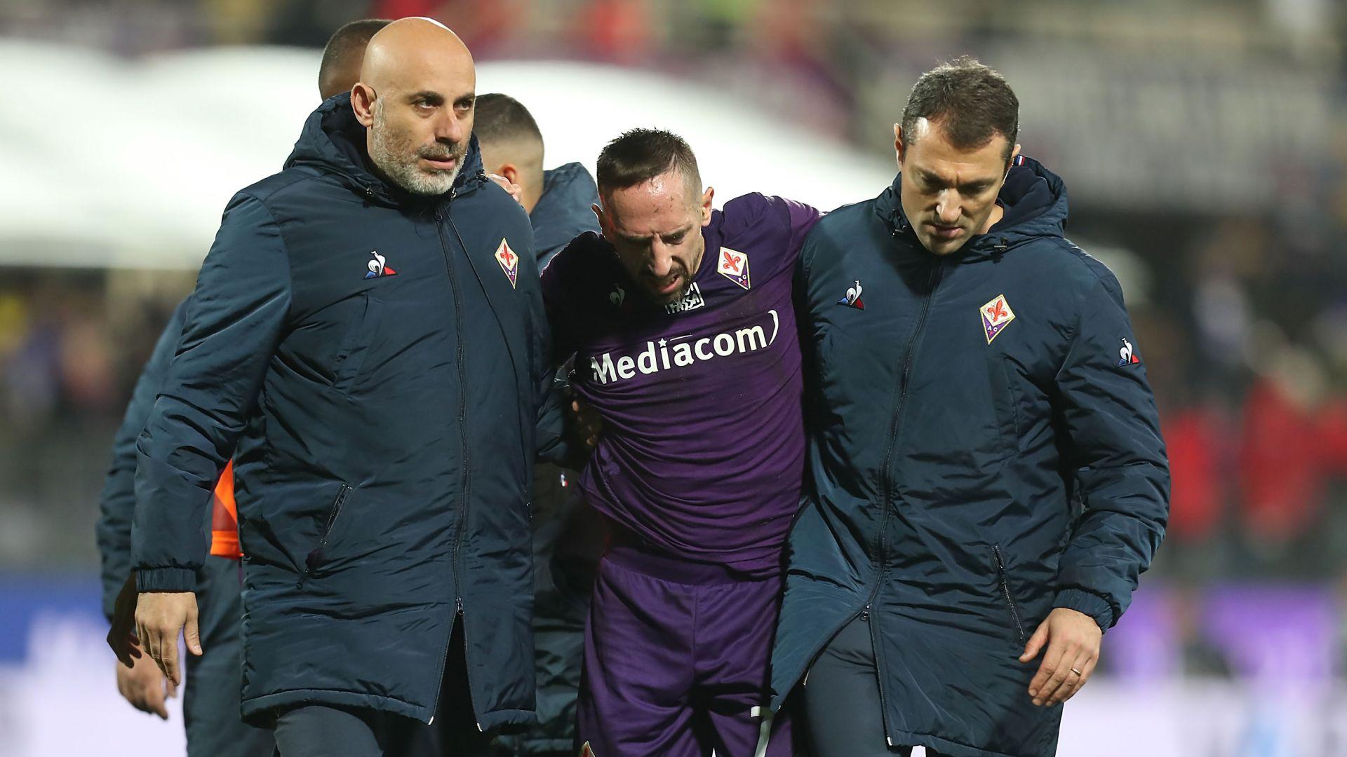 Fiorentina, Franck Ribéry encore loin d'un retour