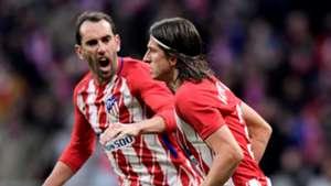 Diego Godin Filipe Luis Atletico de Madrid Real Sociedad LaLiga 02122017